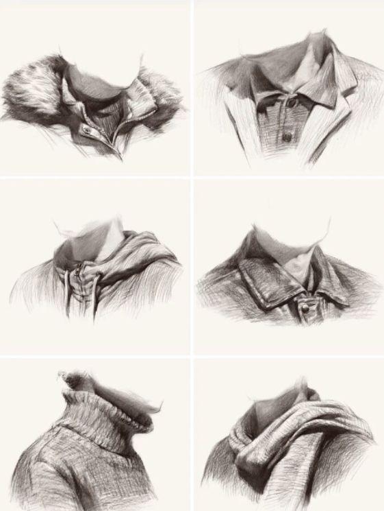 素描人物衣服怎么画?素描衣服绘画时,这些细节不能忽略!