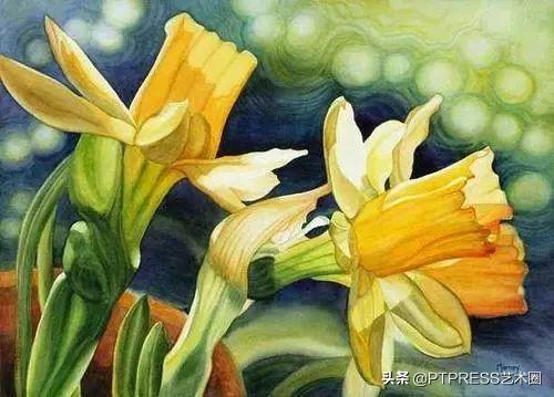 神仙画画!大师笔下的水彩花卉图美到窒息!