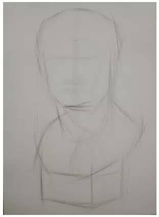 阿格里巴石膏像素描步骤教程,看完这些你就会了