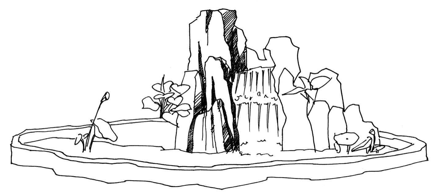 零基础速写教程之假山速写画法,快来临摹吧!
