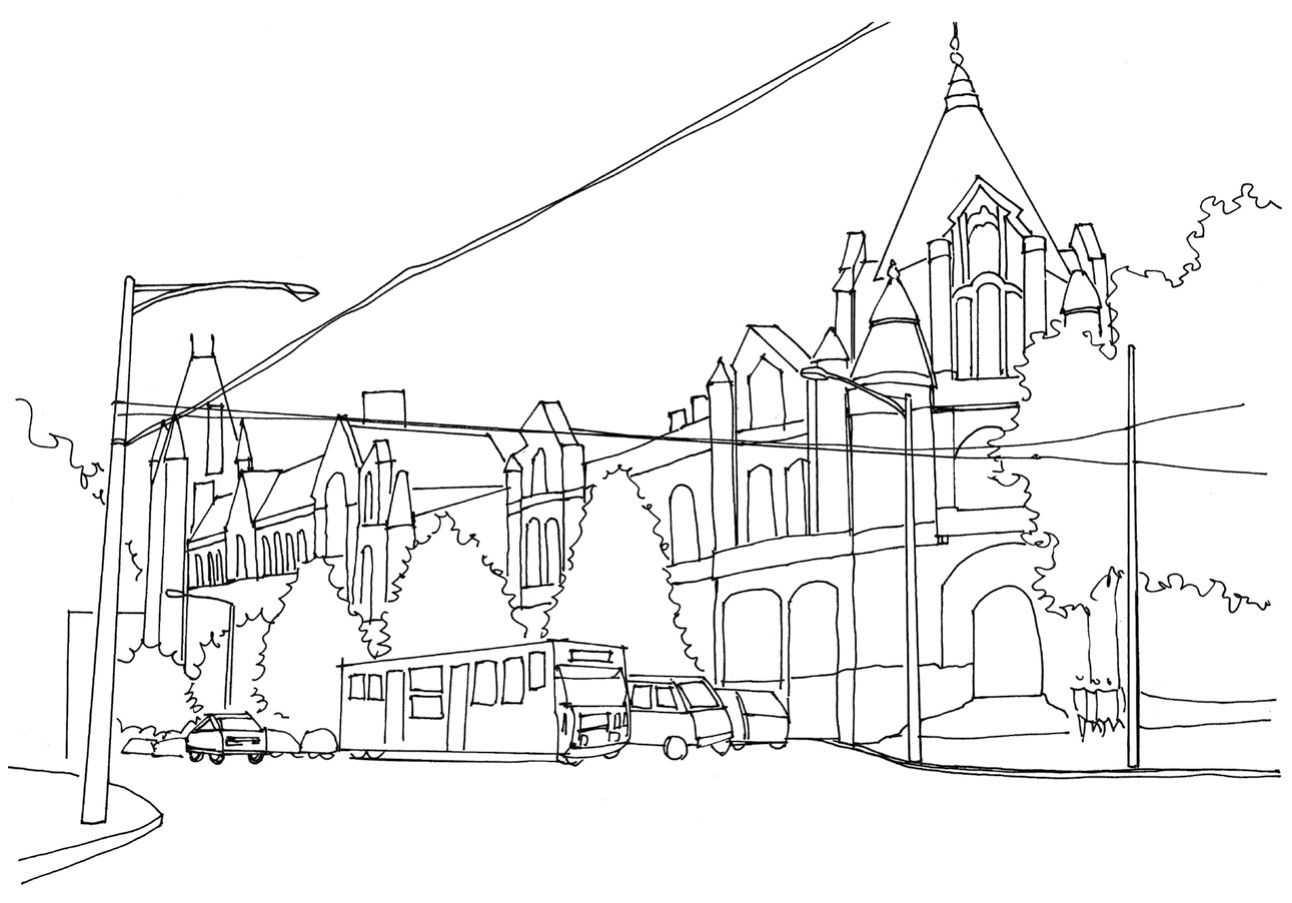 风景速写教程,12个步骤教你画街景建筑,小白也能学会!