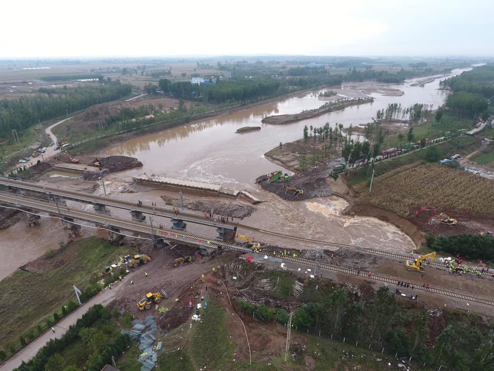 山西284.96万亩农作物受灾,从高空看看山西水灾有多严重!